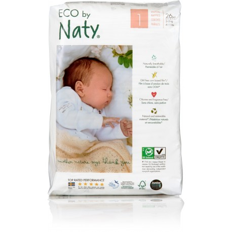 Couches Naty New Born 2 5 Kg T1 Acheter Sur Salicornech