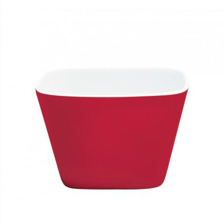 Bol à céréales rouge en porcelaine pour floconneuse Novia
