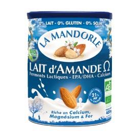 Lait d'Amande Omega-3 & Calcium instantanée bio - 400g - La Mandorle