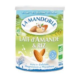 Lait d'Amande & riz instantanée bio - 400g - La Mandorle