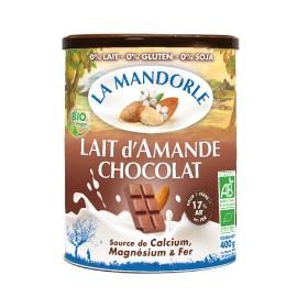 Lait d'Amande au Chocolat instantanée bio - 400g - La Mandorle