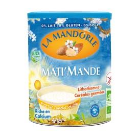 Mati'Mande au lait d'amande et céréales instantanée bio - 400g - La Mandorle