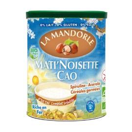 Instant Frühstücksdrink mit Haselnüssen, Kakao & Getreide, Bio - 400g - La Mandorle