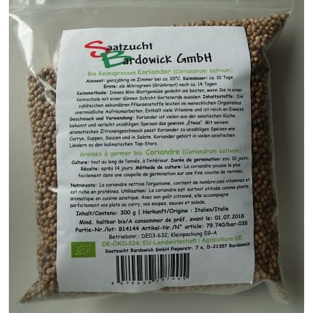Coriandre Graines à germer Bio - 300 g - Bardowick