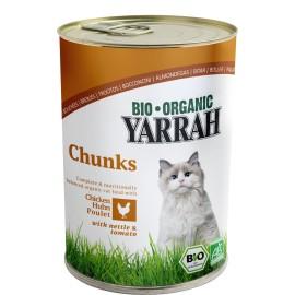 Yarrah Bio Katzenfutter Brocken Huhn - 405g