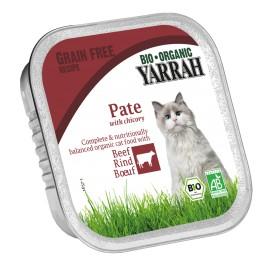 Yarrah Bio Katzenfutter Paté Rind - 16 x 100g