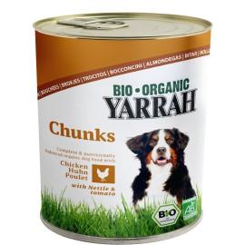 Yarrah Bio Hundefutter Bröckchen Hühnerragout - 820g
