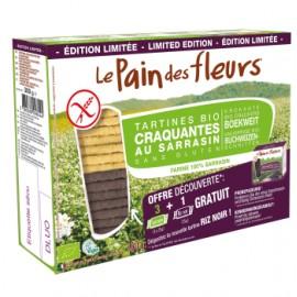 Tartines craquantes Bio au sarrasin et riz noir - 300g - Le Pain des Fleurs