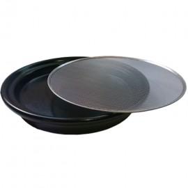 Kressesieb Ø 21.5cm mit Edelstahlsieb und Keramikschale anthrazit - Eschenfelder
