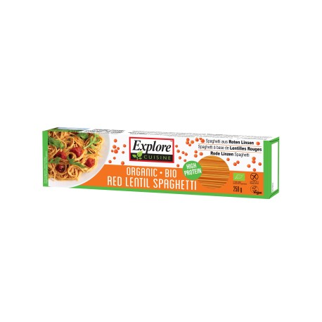 Bio Spaghetti aus Roten Linsen - 250g - Explore Cuisine