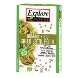 Penne bio aux lentilles vertes - 250g - Explore Cuisine