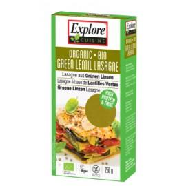Lasagne bio aux lentilles vertes - 250g - Explore Cuisine