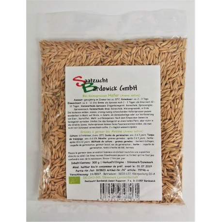 Avoine Graines à germer Bio - 300g - Bardowick