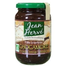 Chocamore Schokoladenmandelcreme Mandeln/Kakao/Agave/Orange, Bio - 350g - Jean Hervé