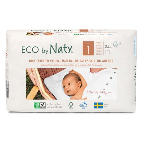 Couches Naty New Born 2-5 kg, Taille 1