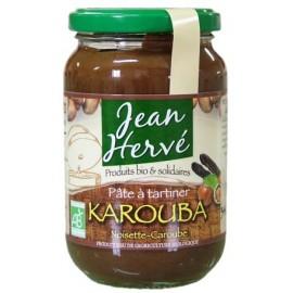 Karouba noisettes/caroube avec du suc de canne intégral, Bio - 340g - Jean Hervé