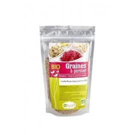 Alfalfa / Radis / Soja / Lentilles Mélange de graines à germer Bio - 200g - De Bardo