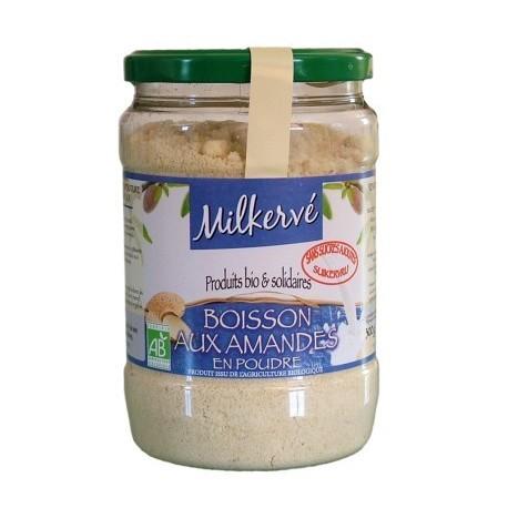 Milkerve amande - préparation pour boissons aux amandes, sans sucre, Bio - 300g - Jean Hervé