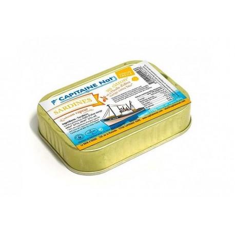 Sardines à l huile d olive bio et au citron bio - 115g - Capitaine nat