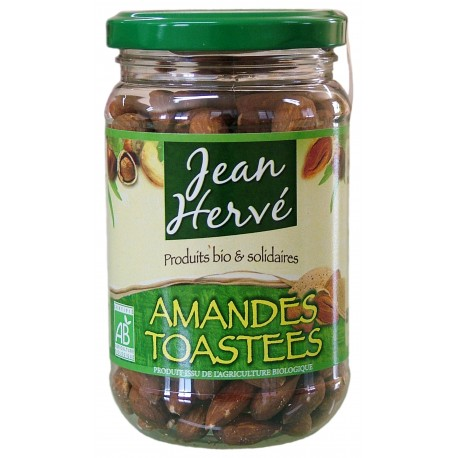 Amandes complètes, toastées au feu de bois, Bio - 180g - Jean Hervé