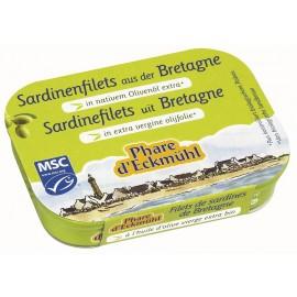 Filets de sardines à l'huile d'olive - 100g - Phare d'Eckmühl