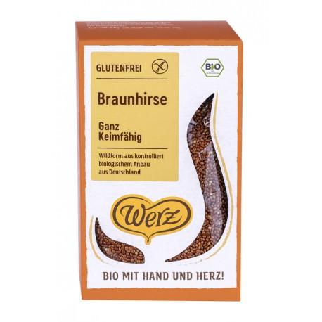 Bio Braunhirse ganz, keimfähig, glutenfrei - 500g - Werz