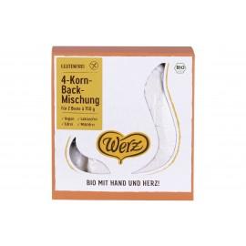 4-Korn Backmischung glutenfrei, bio - 1kg - Werz