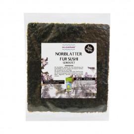Bio Nori-Blätter für Sushi - 25 g | 10 Blätter - Algamar