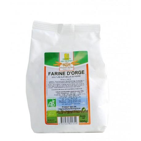 Farine d'orge complète Bio - 500 g - Moulin des Moines