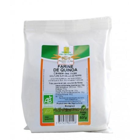 Farine de quinoa Bio - 500g - Moulin des Moines