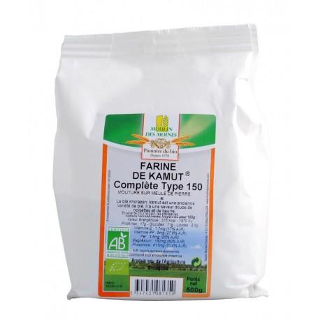 Farine de Kamut complète Bio - 500 g - Moulin des Moines