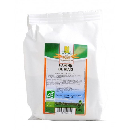 Farine de maïs complète, Bio - 500 g - Moulin des Moines