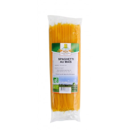 Mais-Spaghetti, Bio, Glutenfrei - 500 g - Moulin des Moines