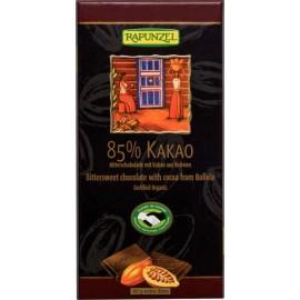 Chocolat noir avec 85% cacao, Bio - 80g - Rapunzel