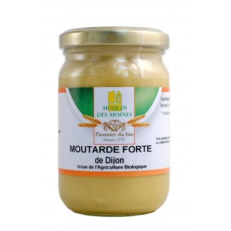 Moutarde de Dijon forte, Bio - 200 g - Moulin des Moines