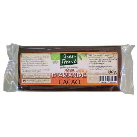 Pâte d'amande au sirop d'agave et cacao, Bio - 250g - Jean Hervé