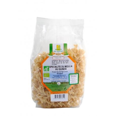 Vollkorn-Quinoa-Teigwaren, Bio - 250 g - Moulin des Moines