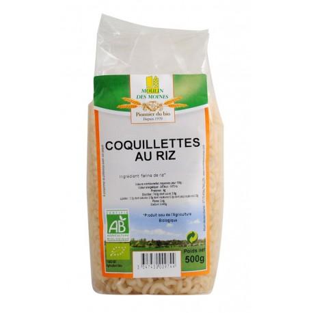 Coquillettes au Riz, Bio, sans gluten - 500 g - Moulin des Moines