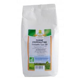 Farine d'épeautre complète, Bio - 1 kg - Moulin des Moines