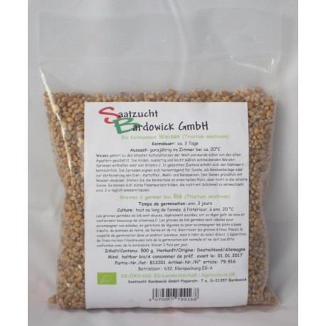 Weizen Bio Keimsamen - 500 g - Bardowick