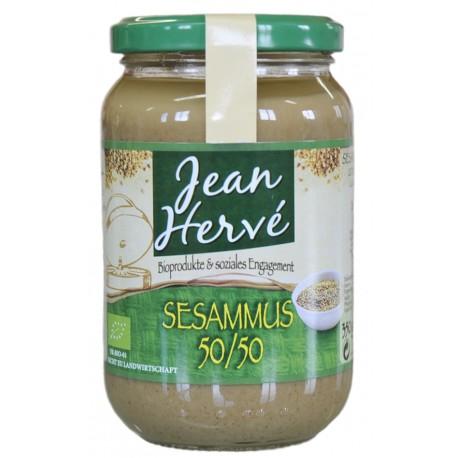 Sesammus Tahin 50 % geschälter Sesam, Bio - 350g - Jean Hervé