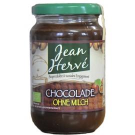 Chocolade sans lait, noisettes/cacao avec du suc de canne intégral, Bio - 350g - Jean Hervé