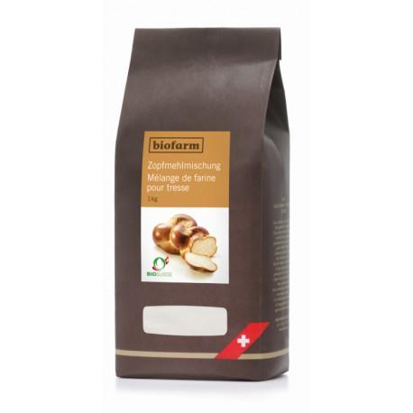 Mélange de farine bio pour tresse - 1kg - Biofarm