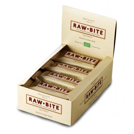 Barre crue noix de coco, Bio - 12x50g - Raw-Bite