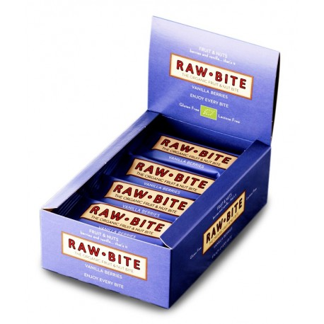 Barre crue baies & vanille, Bio - 12x50g - Raw-Bite
