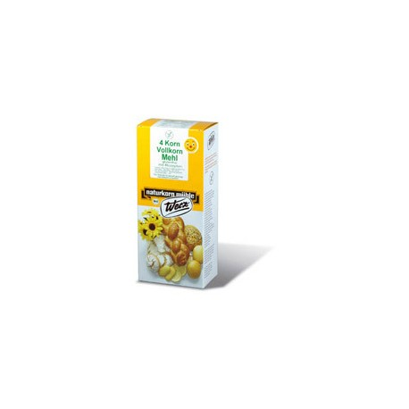 Farine complète bio 4 céréales sans gluten - 1kg - Werz