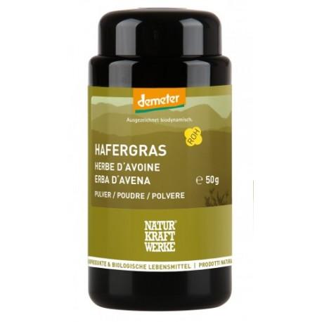 Herbe d'avoine en poudre, Demeter - 50g - Naturkraftwerke