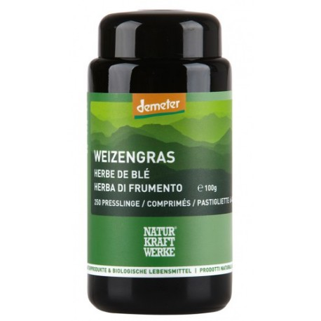 Weizengras-Presslinge, Demeter - 250 Stk. à 400mg - Naturkraftwerke
