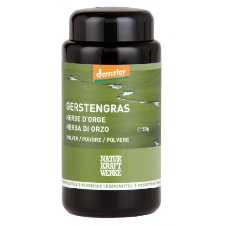 Gerstengras Pulver, Demeter - 50g - Naturkraftwerke