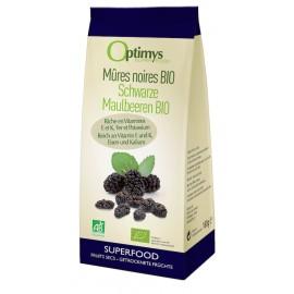 Schwarze Bio Maulbeeren - 180g - Optimys